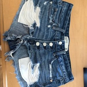 Women's Abercrombie & Fitch denim shorts